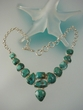 Green Turquoise Serling Silver Necklace