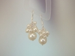 Natural White Color Freshwater Pearl Sterling Silver Drop Earrings