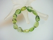 Green Caribbean Amber Nugget  Stretch  Bracelet