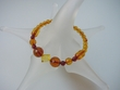 Honey Faceted Baltic Amber Stretch Bracelet