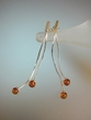 Modern Baltic Amber Sterling Silver  Earrings
