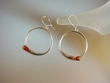 Honey Baltic Amber Sterling Silver Hoops
