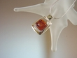 Modern Multi-coloured  Amber Sterling  Pendant  Necklace