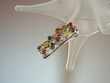 Multiclor Baltic Amber Sterling  Silver Pendant Necklace
