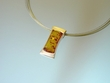 Modern Honey Baltic  Amber Sterling Silver Pendant Necklace