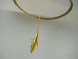 Artistic   Vermeil   &  Baltic  Amber  Necklace