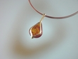 Modern  Baltic Amber Sterling Silver Necklace