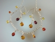 Baltic Amber Sterling Silver Necklace and Earrings Set