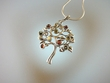 Multicolor Tree Baltic Amber & Sterling Silver Pendant Necklace