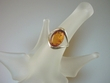 Honey Baltic Amber Sterling Silver Ring