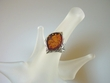 Honey Baltic Amber & Sterling Silver  Ring
