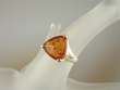 Classic  Honey Baltic Amber Sterling Silver Ring