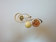 Multicolor Baltic Sterling Silver Amber Brooch