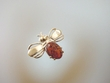 Bee Honey Baltic Amber  Sterling Silver Brooch