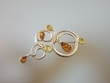 Multicolor Baltic Amber Sterling Silver  Brooch