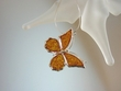 Butterfly Baltic Amber Sterling Silver Pendant Necklace