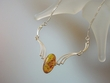 Honey Baltic Amber & Sterling Silver Necklace
