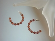 Honey Baltic Amber Sterling Silver Hoop Earrings