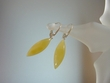 Milky Baltic Amber Sterling Silver Dangle Earrings