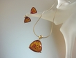 Classic Baltic Amber Sterling Silver Necklace Set