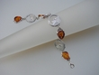 Honey Baltic Amber & Sterling Silver Coin Bracelet