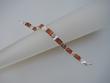 Modern Honey Baltic Amber  Sterling Silver Bracelet