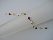 Multicolor Baltic  Amber Sterling Silver Bracelet