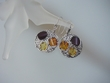 Unique Multicolor Baltic Amber Stirling Silver Earrings
