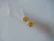 Honey Baltic Amber Flower & Sterling Silver Earrings