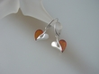 Heart Honey Baltic Amber & Sterling Silver Earrings