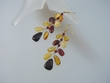 Multicolor  Baltic Amber Dangle Earrings