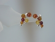 Multicolor Baltic Amber Sterling Silver Cluster Earrings