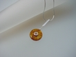 Modern Honey Baltic Amber Sterling Silver Necklace