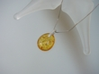 Light Honey Baltic Amber Sterling Silver Pendant Necklace