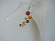 Artistic Multicolor Baltic Amber Sterling Silver  Pendant Necklace