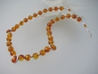 Unique Baltic Amber Round Beads Necklace & Sterling Silver