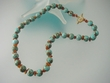 Turquoise & Amber  Vermail  Necklace