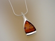 Honey Baltic Amber & Sterling  Silver  Pendant  Necklace
