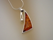 Baltic  Amber & Pearl  Sterling Silver Necklace