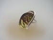 Natural Baltic Amber & Sterling Silver Ring