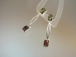 Green & Honey  Baltic Amber Dangle Sterling Earrings