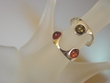 Honey & Green Baltic  Amber Sterling Silver Ring