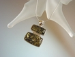 Modern Green Baltic Amber Sterling Pendant Necklace