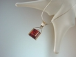 Cognac Baltic Amber Sterling Silver Pendant Necklace