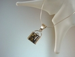 Green  Baltic Amber Sterling  Pendant Necklace