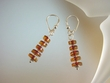 Honey Baltic Amber Rondel Sterling Silver Earrings
