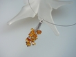 Honey Amber Nuggets Sterling Silver Necklace