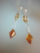 Honey Baltic Amber & Swarovski Crystal Earrings