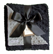 Meg Original Black & Gray Minky Blanket