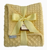 Meg Original Yellow Minky Dot Blanket